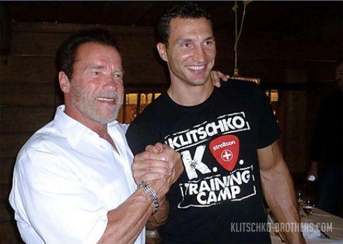 Арнольд Шварценеггер посетил Владимира Кличко в Австрии